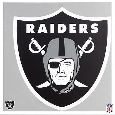 NFL Metal Wall Art, Raiders