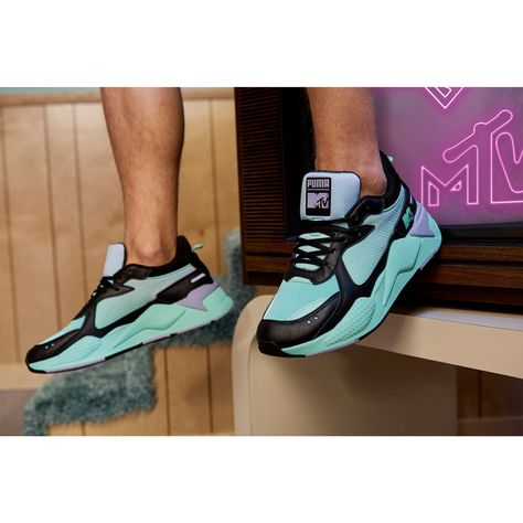 PUMA x Mtv Rs-x Tracks Pastel 2 Trainers in Black/Sweet Lavender size 10.5