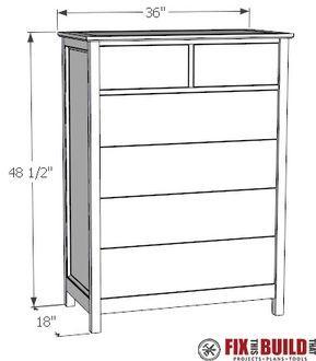 6 Drawer Tall Dresser Diy Furniture