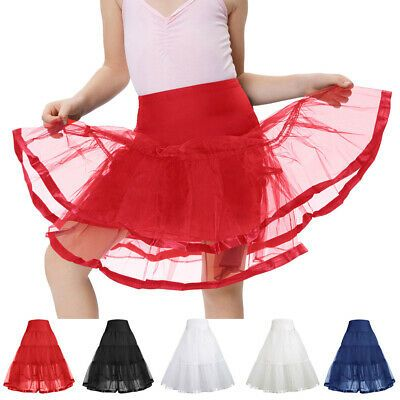 Flower Girl dress Children Underskirt Kid Wedding Crinoline Petticoat Size S M L