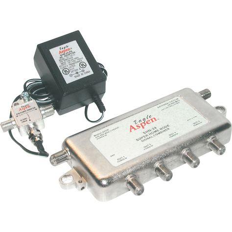 Internet Modem ViewTV 2 Port Drop Amplifier//Signal Booster//Splitter for Digital TV Antenna Cable TV