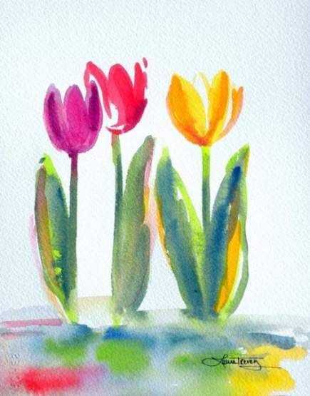 29 Super Ideas Flowers Watercolor Tulip Flowers With Images