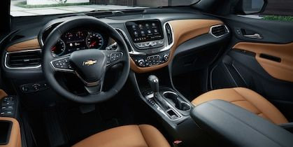 2019 Equinox Small Suv Interior Photo Jet Black Brandy Perforated Leather Small Suv Chevy Equinox Equinox Suv
