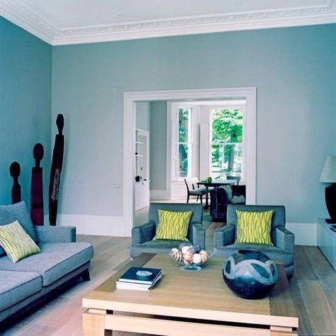 50 dekorasi interior ruang tamu dengan warna cat biru