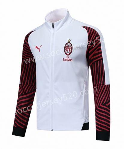 2018 19 Ac Milan White Soccer Jacket Top Soccer Training Jacket Jackets Jacket Sale