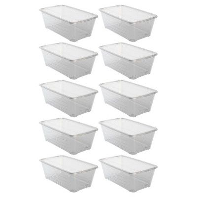 Life Story 13 7 X 8 X 4 9 Inch Shoe Storage Box Stacking Container 10 Pack In 2020 Shoe Storage Plastic Box Storage Storage Box