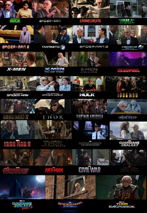 Every Stan Lee cameo in a Marvel Movie since 1989