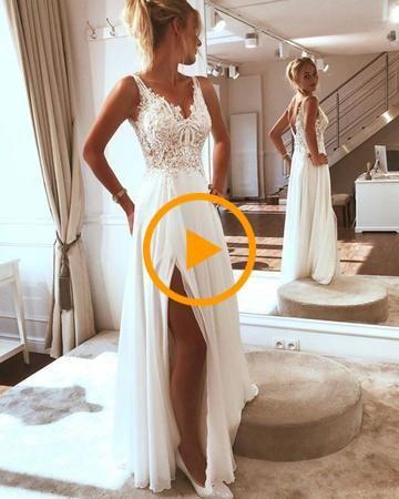Popular 2019 Summer Beach Wedding Dresses Off The Shoulder A Line
