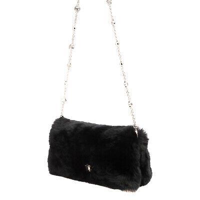 Rrp 1850 Miu Rabbit Fur Clutch Bag
