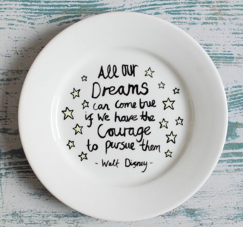 Plate Hand Painted Funny Quote Dieting Plate Personalised Diet Ceramic Plate Side Plate Dinner Plate