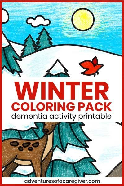 Easy Winter Coloring Pages For Seniors Living With Dementia In 2020 With Images Dementia Activities Activities For Dementia Patients Senior Activities