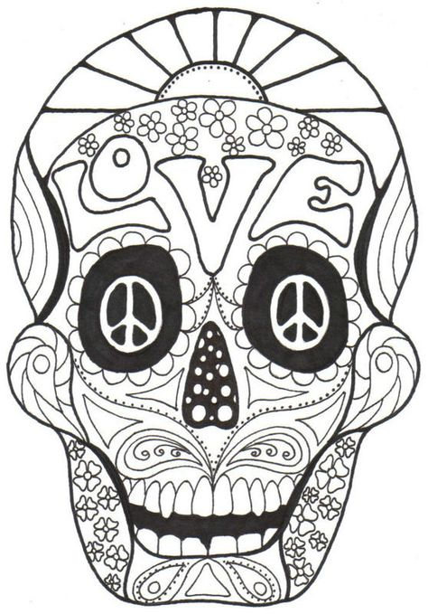 Day of the Dead, cOLoRiNg bOoK, Dia de los Muertos, Calavera, Sugar, Skull