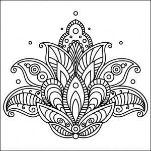 Mandalas Lindos Para Colorear Flores Mandalas Pinte