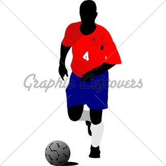Soccer Players Vector Illustration