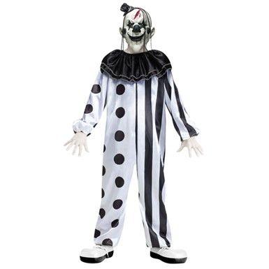 KILLER CLOWN MASK OVERHEAD HORROR EVIL CIRCUS HALLOWEEN FANCY DRESS COSTUME