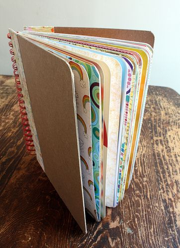How to make a homemade smash book. A sort of journal where you put all sort of things, in a sort of scrapbook way-very cool.