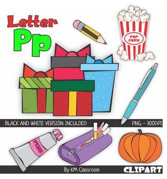 Letter P Color And Line Art Clipart Clip Art Line Art Art Clipart