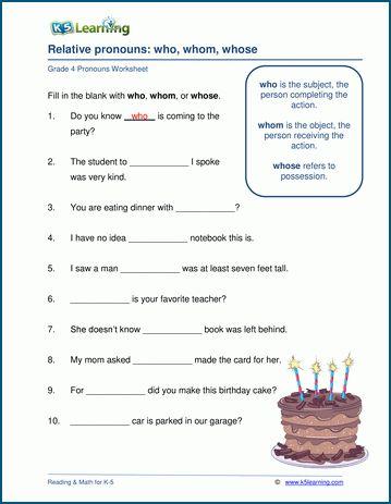 Grade 4 Pronouns Worksheets K5 Learning Pronoun Worksheets English Worksheets For Kindergarten Reading Comprehension Worksheets
