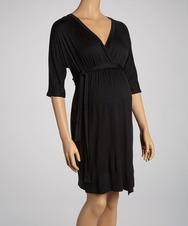 f26aec832d Take a look at this Black Faux Wrap Maternity Dress - Women by Three  Seasons Maternity on  zulily today!