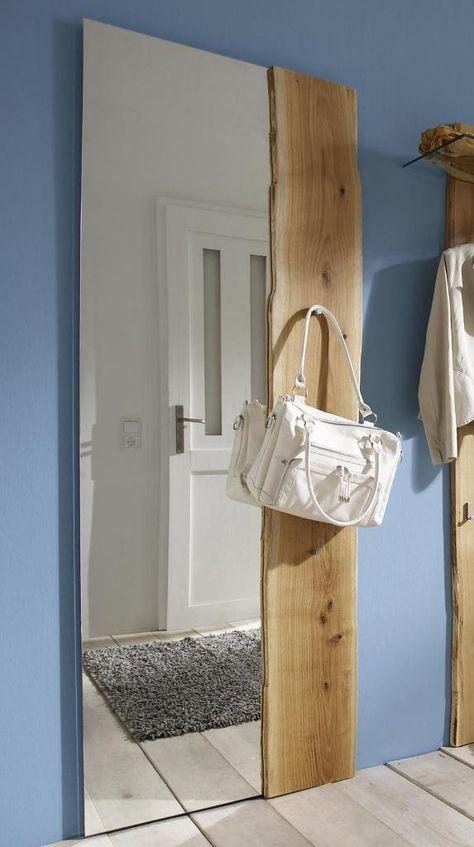 Woodline Spiegel Eiche Massiv 70x190cm Spiegel Eiche Spiegel