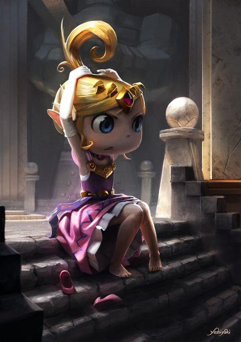Princess Zelda - Wind Waker, Cassio Yoshiyaki on ArtStation at http://www.artstation.com/artwork/princess-zelda-wind-waker