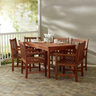 Patio Dining Sets You Ll Love Wayfair Outdoor Wood Furniture