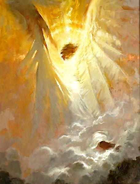 Pin by Mal Morris on Painting Art   Angel art, Angel painting, Christian art