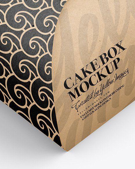 Download Cake Box Mockup Psd Free Download Paper Cake Box Paper Cake Box Mockup
