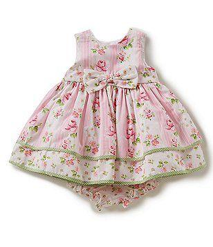 Toddler Girls Size 18 Month  Laura Ashley Pink Floral Smocked Dress