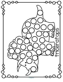 Dot Marker Coloring Pages - Learning How to Read