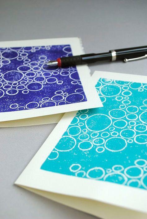 Linocut bubbles