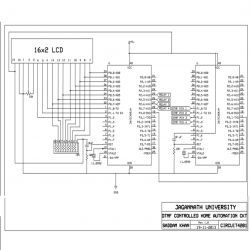 Circuit Diagram of 8051 Microcontroller and DTMF based Home