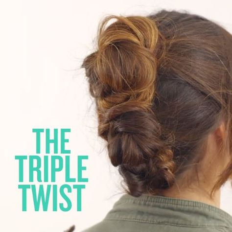 Try this easy three-bun hairstlye. It's super chic (and requires minimal effort).