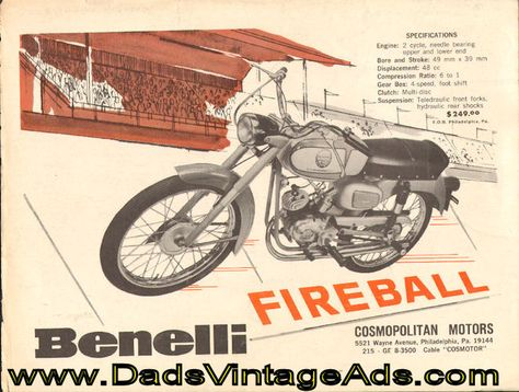 1965 Benelli Fireball motorcycle specs, picture \ price Misc - vintage möbel küche
