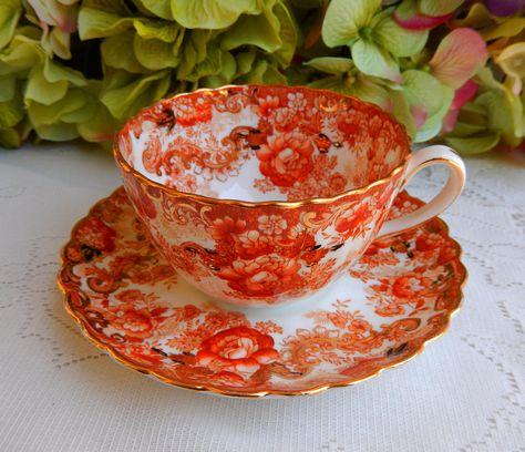 Vintage Radfords Victorian Bone China ~ Porcelain Cup & Saucer ~ Floral ~ Gold | by Donna's Collectables