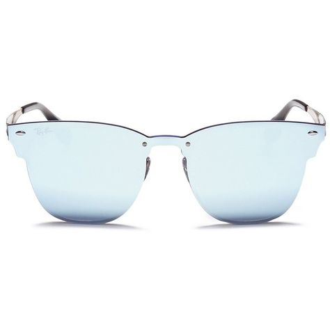 d9052af1e6dc Ray-Ban  Blaze Clubmaster  metal mirror sunglasses ( 214) ❤ liked on  Polyvore featuring accessories