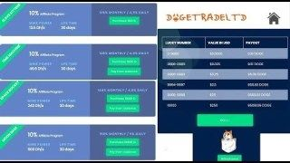 DogeTrade LTD – Dogecoin Cloud Mining with Free Lucky Roll win upto