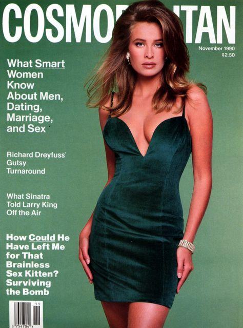 Frederique Van Der Wal, photo by Francesco Scavullo, Cosmopolitan, November 1990