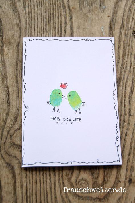 Karte für Verliebte, Valentinskarte, Card