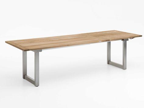 Niehoff Ausziehbarer Gartentisch Nando Teak-Recycled kaufen im borono Online Shop