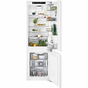 aeg white integrated 70 30 frost free fridge freezer