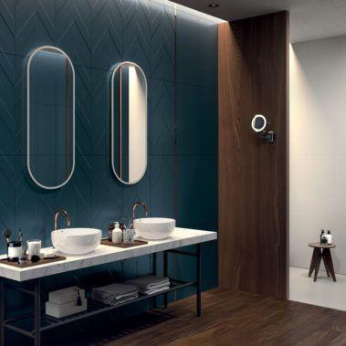 Deep Blue Drop Matt Garden State Tile Modern Bathroom Modern Bathroom Design Wall Cladding