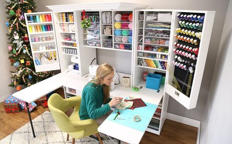 Unique furniture tailored to crafters, seamstresses, etc. that can enhance their… Unique furniture tailored to crafters, seamstresses, etc. that can enhance their experience by simplifying and organizing their supplies so they can create.