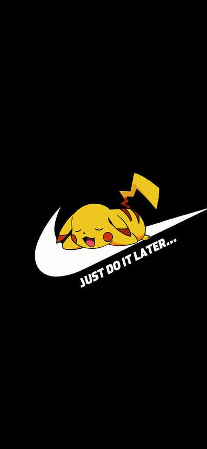Cartoon Skin Blocks Grave Nike Logo Just Do It Wallpapers For Iphone X Iphone Xs And In 2020 Just Do It Wallpapers Samsung Wallpaper Android Pikachu Wallpaper Iphone