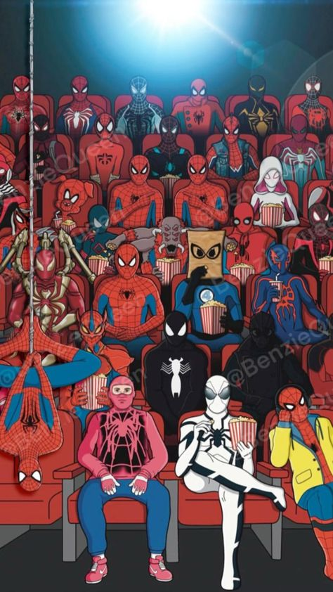 Spider-Mans Only by Artist: @benziequeen motion via Werble iPhone app