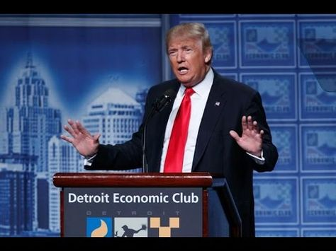 "Donald Trump Speech ""titties like right here in Detroit."" Detroit"