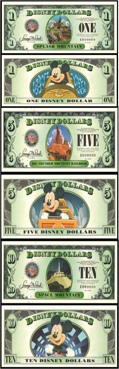 graphic relating to Disney Dollars Printable named Dallas Hansen (punkydal) upon Pinterest