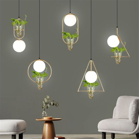 #nordic #art #deco #flower #pot #grey #glass #ball #pendant #lights #shop #bar #cafe #dining #room #decorative #hanging #lamp #led #luminaire #light #equipment #tools