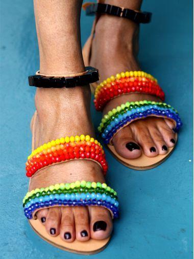 Girls Boho Sandals Mother Daughter Girls White Sandals Greek Leather Sandals Hippie Baby Sandals.