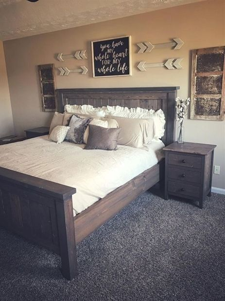51 Awesome Rustic Bedroom Furniture Ideas To Get The Farmhouse Charm Godiygo Com Rustic Bedroom Furniture Rustic Master Bedroom Remodel Bedroom